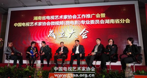 2016(中国电视艺术家协会微视频(微电影)专业委员会湖南省分会成立)